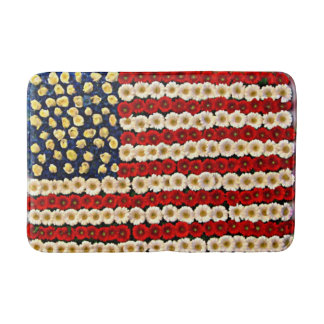 Flower Power US Banner Bath Mats