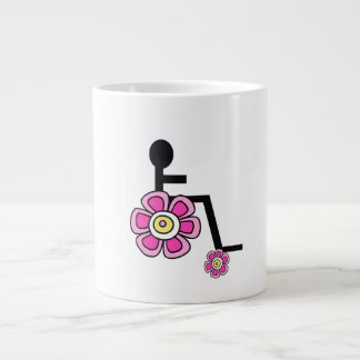 Flower Power Wheelchair Coffee Mug