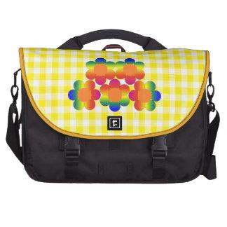 Flower Power Yellow Gingham Laptop Bag