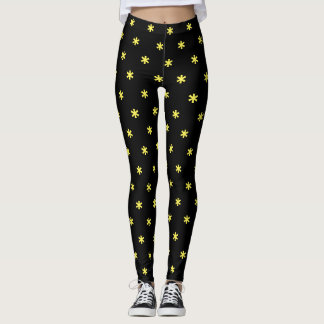 Flower Power - yellow Leggings