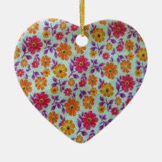 Flower Print Ornament