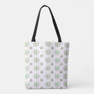 Flower print tote bag