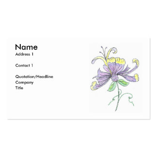 Flower Profile Card Business Cards