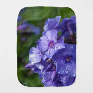 flower purple burp cloth