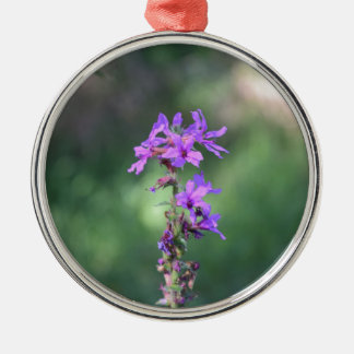 flower_purple.JPG Metal Ornament