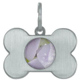 flower rain pet ID tags