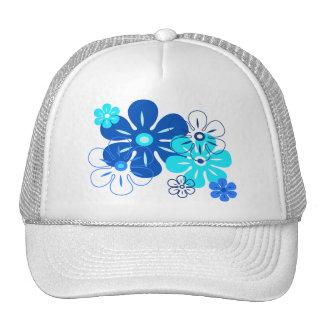 Flower Rain Tropical Trucker Hats