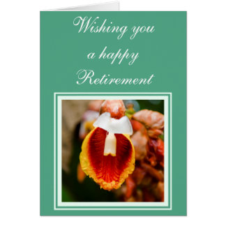 Flower retirement wishes cards