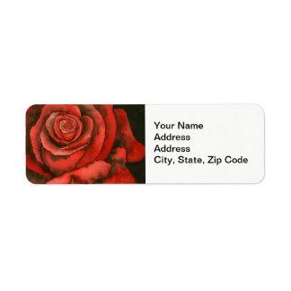 Flower Return Address Label, rose Return Address Label