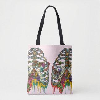 Flower Rib Cage Tote Bag