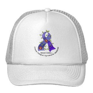 Flower Ribbon 1 CFS Chronic Fatigue Syndrome Hat