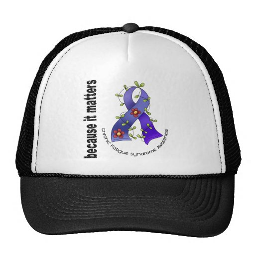 Flower Ribbon 3 CFS Chronic Fatigue Syndrome Trucker Hat