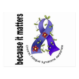 Flower Ribbon 3 CFS Chronic Fatigue Syndrome Postcard