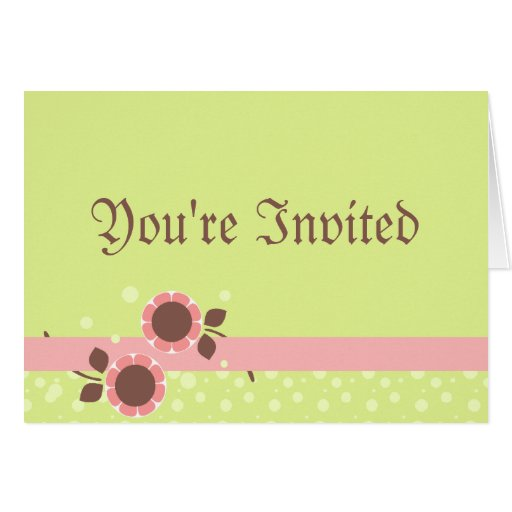 flower ribbon baby shower invitation greeting card zazzle