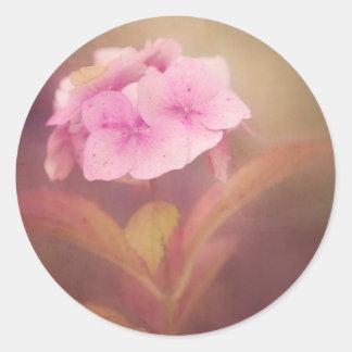 flower round sticker
