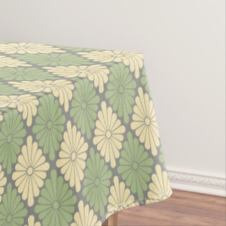 Flower Sage, Cream and Gray Tablecloth