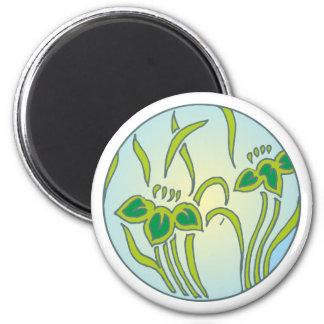 Flower sample circle floral pattern circle magnet