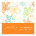 Flower Scribbles • Birthday Invitation