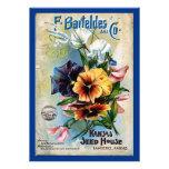 Flower Seed Packs Vintage Art Personalized Invitation
