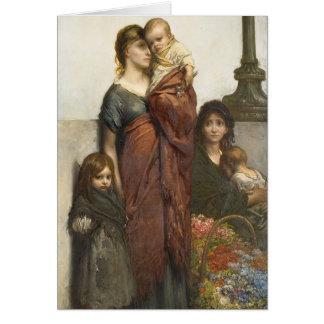 Flower Seller Family Card