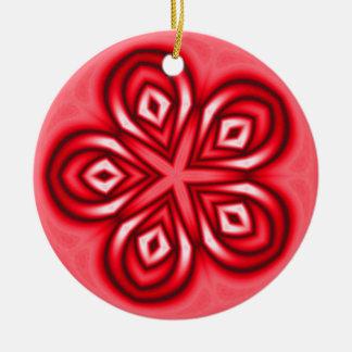flower shape 1 round ceramic decoration