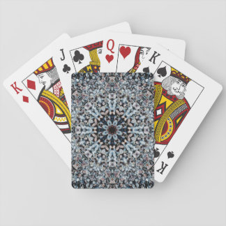 Flower-Shaped Pebbles Mandala Playing Cards