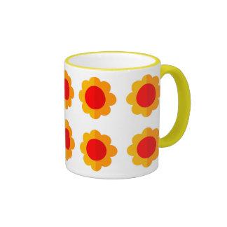 Flower Shapes Ringer Mugs