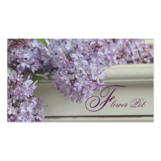 Flower Shop Business Cards Pretty Lilacs