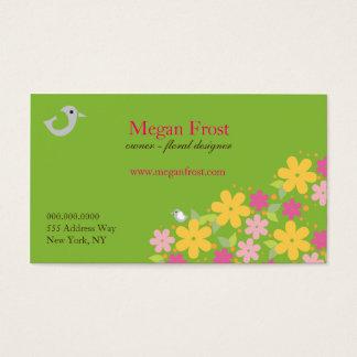 Flower Shop Florist Designer Business Card