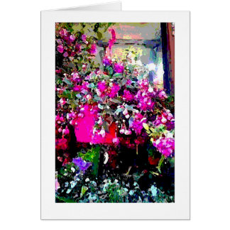 Flower Shop in Paris France Art Print Note Card
