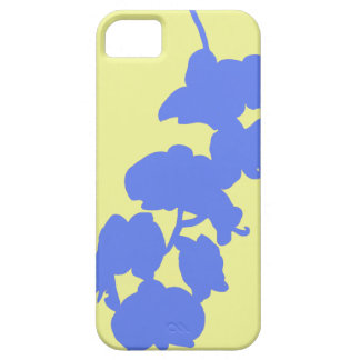 Flower Silhouette, Blue and Yellow iPhone 5 Case