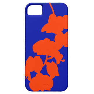 Flower Silhouette, Orange and Blue iPhone 5 Cover