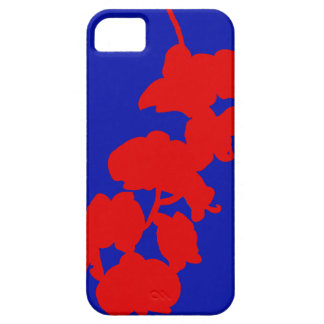 Flower Silhouette, Red and Blue iPhone 5 Cases