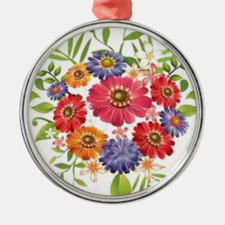 flower Silver-Colored round decoration
