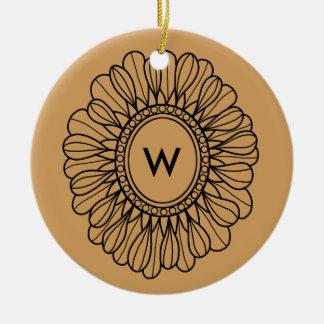 Flower Single Ceramic Ornament