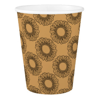 Flower Single Paper Cup