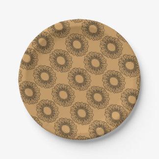 Flower Single Paper Plate