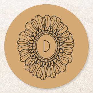 Flower Single Round Paper Coaster