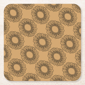 Flower Single Square Paper Coaster