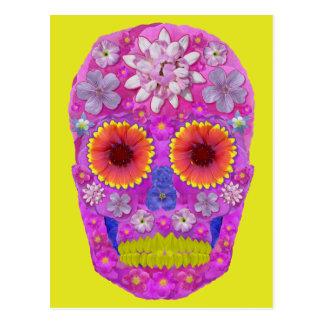 Flower Skull 2 Postcard