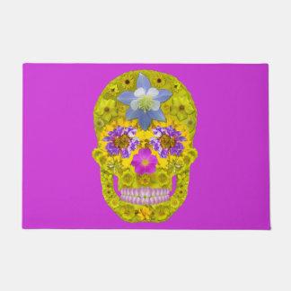 Flower Skull 3 Doormat