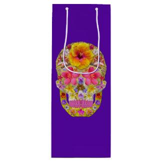 Flower Skull 4 - Tropical Wine Gift Bag