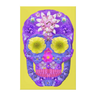 Flower Skull 5 Canvas Print