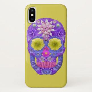 Flower Skull 5 iPhone X Case