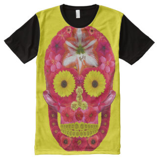 Flower Skull 6 All-Over Print T-Shirt