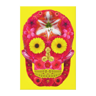 Flower Skull 6 Canvas Print