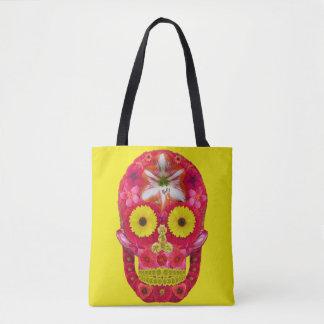 Flower Skull 6 Tote Bag