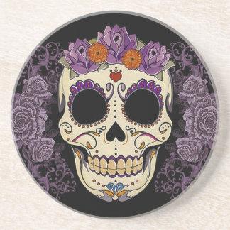 Flower Skull Sandstone Coaster
