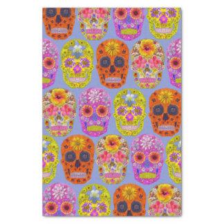 Flower Skulls Tissue Paper