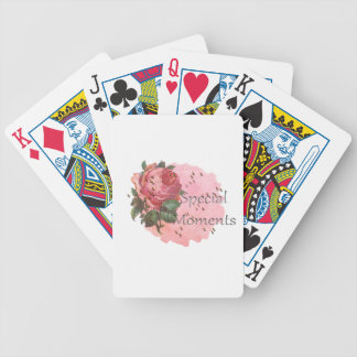FLOWER SPECIAL MOMENTS BICYCLE PLAYING CARDS